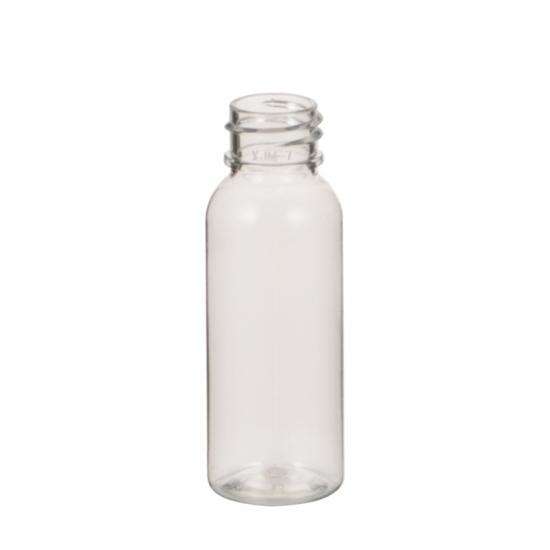 Clear Plastic PET Bullet Round Lotion Bottle