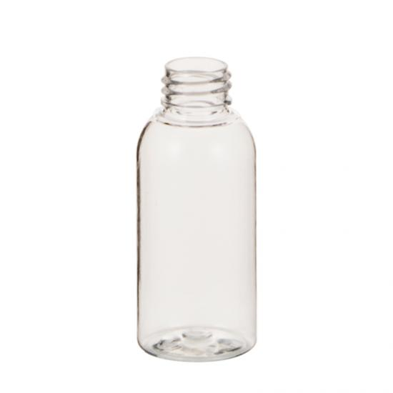 Transparent Boston Round PET Lotion Bottle