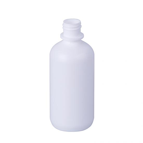 White Plastic PET Boston Round Lotion Bottle