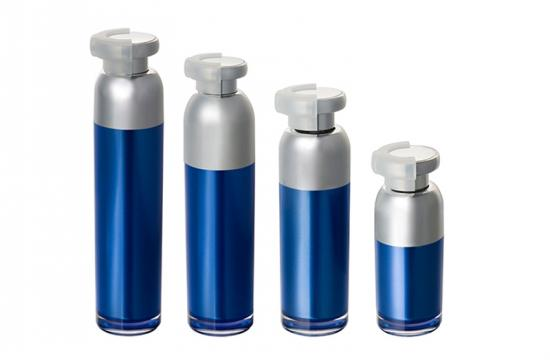 Acrylic Airless Cosmetic Lotion Bottle