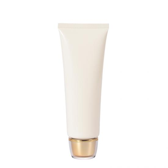 OEM Pearl White Glossy Finish Squeezable Skin Care Tube manufacturers