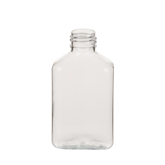 Wide Mouth Clear Oblong PET Plastic Bottle